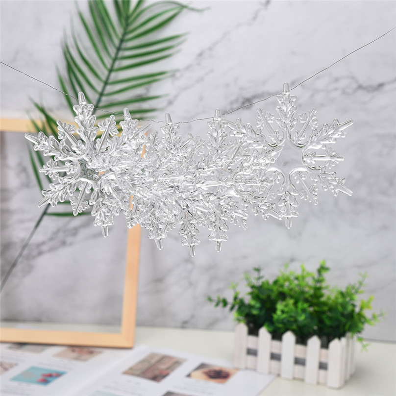 Artificial Snowflakes Acrylic Snowflake Christmas Tree Hanging Decoration Decor For DIY Painting Wedding Decorations #3d11 (2)