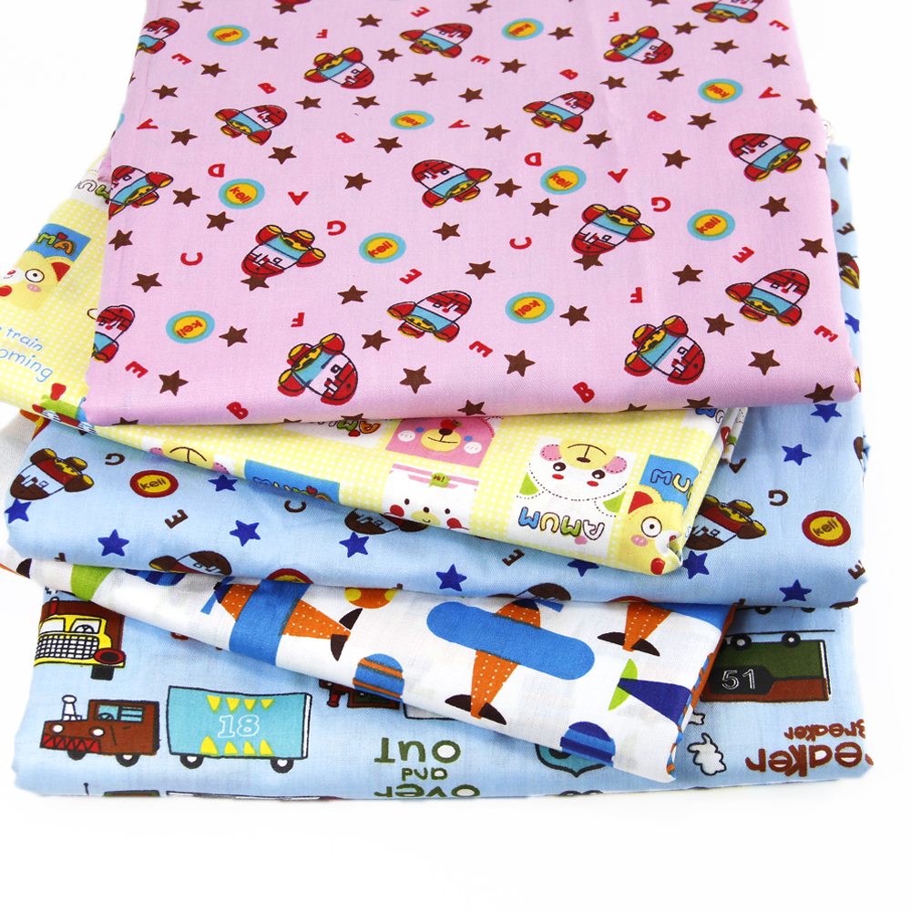 50 147cm transportation airplane 100 percent cotton car for Airplane print cotton fabric