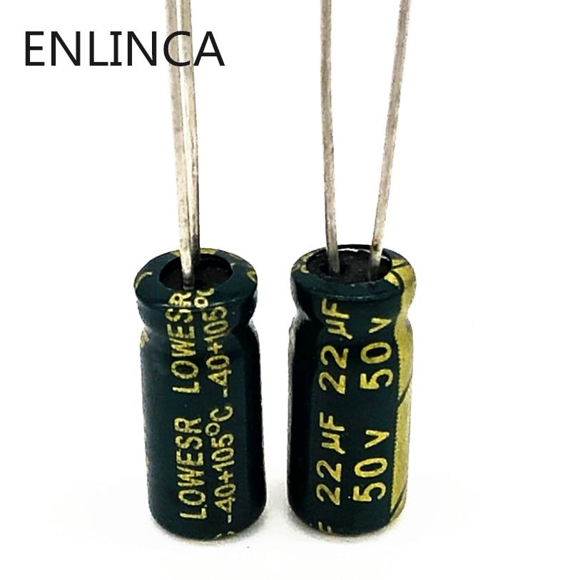 20pcs/lot AC07 50V 22UF Aluminum Electrolytic Capacitor Size 5*11 22UF 20%