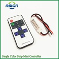 1Pcs Mini Wireless RF Single Color LED Dimmer DC 5V 12V 24v 11Key Remote Controller For LED Strip 5050 3528 2835 5630 Control