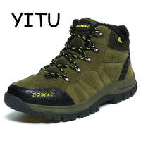 YITU Outventure Suede Leather Mens   Hiking   Boots   Shoes   Outdoor Sneakers Breathable   Hiking     Shoes   Hunting Mountain   Shoes   Waterproof