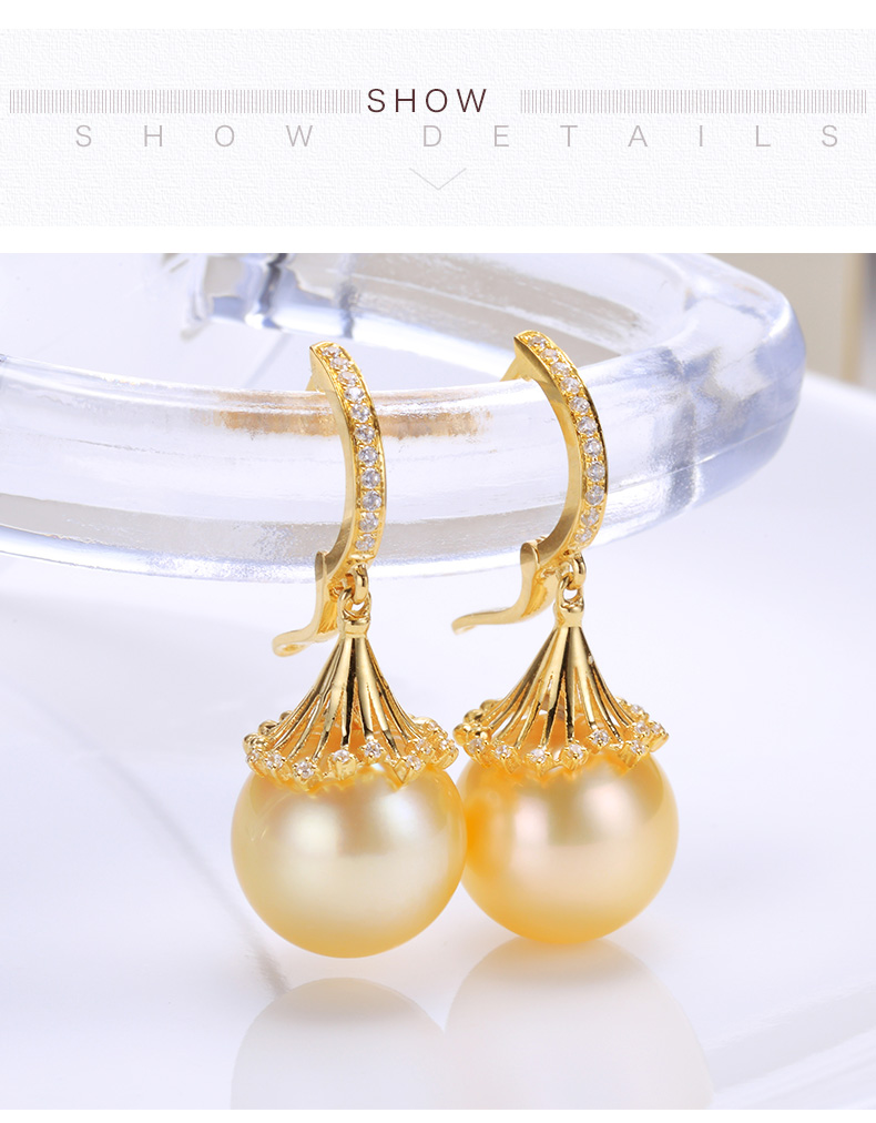 southsea pearls gold earrings 88