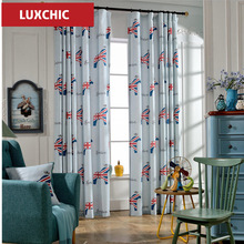 American Classic Luxury Window Curtains for Living Room/Bedroom Gilded Cloth Curtains Custom Made