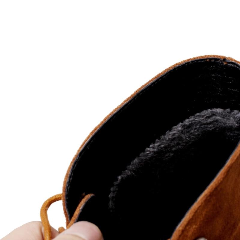 Chaussures Bottes Nouvelle Hauts Cheville Chute 100En Naturel D'hiver Lacets Noir Cuir À jaune Talons Véritable Qzyerai Et Femmes Aj4LR35