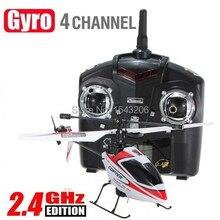 WLtoys Mise À Niveau Version V911 2.4 Ghz 4CH Seule Lame Radio RC Hélicoptère GYRO Rouge RTF