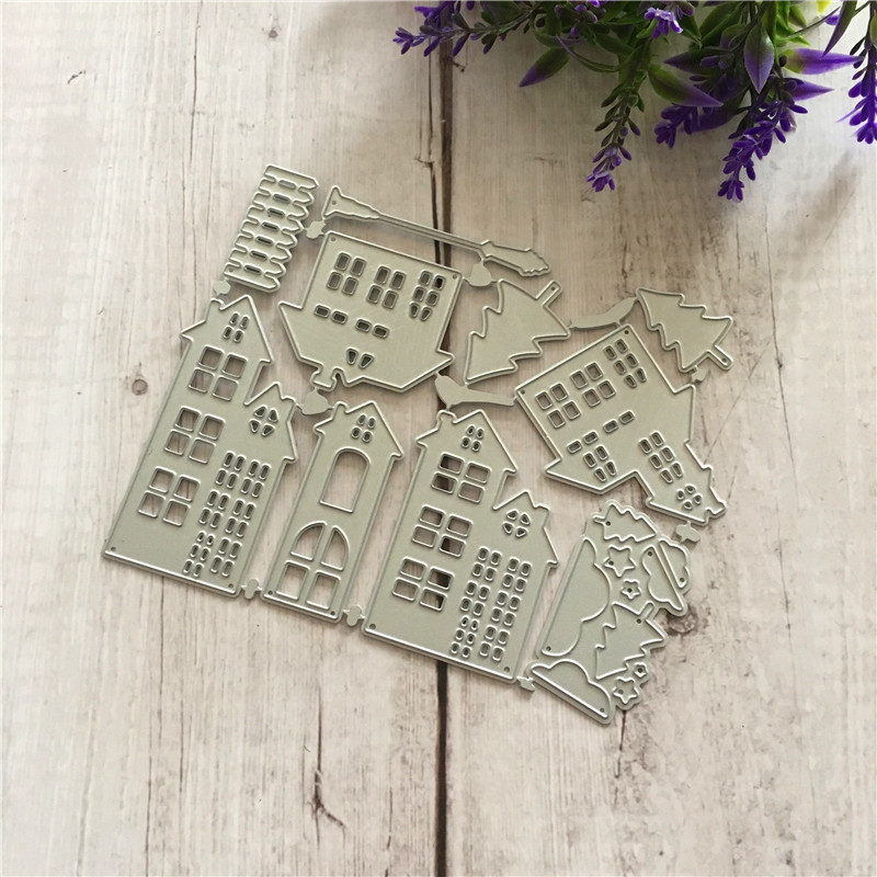 New 2018 Making Cards Decoration Cutting Dies Christmas house Scrapbooking Dies Metal Crafts Stamps Embossing 109x140mm in Cutting Dies from Home Garden