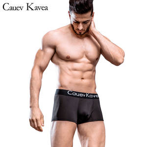 Men's Underwear Panties Boxer-Shorts Stretch Male Breathable Cotton Brand Solid