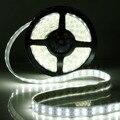 Новое Прибытие 5 М 600 Светодиодов Двухрядные 5050 SMD Холодный/Теплый Белый Свет Прокладки Трубы Автомобиля Настенный Светильник водонепроницаемый 12 В