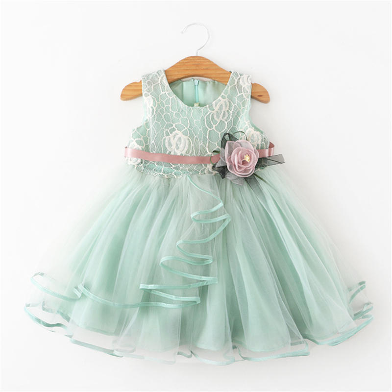 купить Baby Girls Princess Dress Wedding Party Gown Tutu Summer Costume Kids Tulle Birthday Dresses For Girls 2 To 6 Years Clothing онлайн