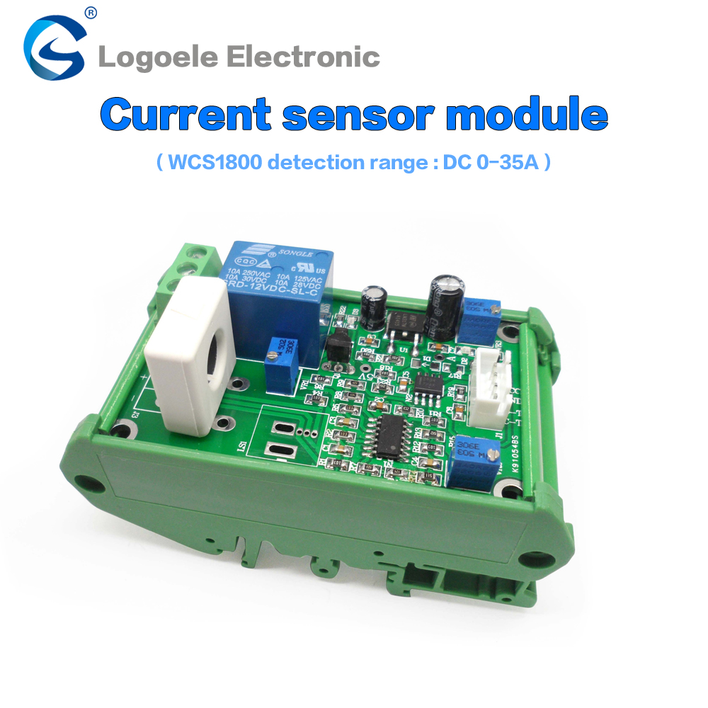 WCS1800 DC 35A current detection sensor overcurrent short circuit protection detection module WCS2720 2705 1800 1700 overcurrent protection switch module current detection board 12v 10a for dc motors short curcuid self stalled overload detection