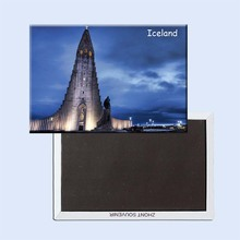 Free Shipping Iceland Church Travel Refrigerator Magnets 21112,Souvenirs of Worldwide Tourist Landscape