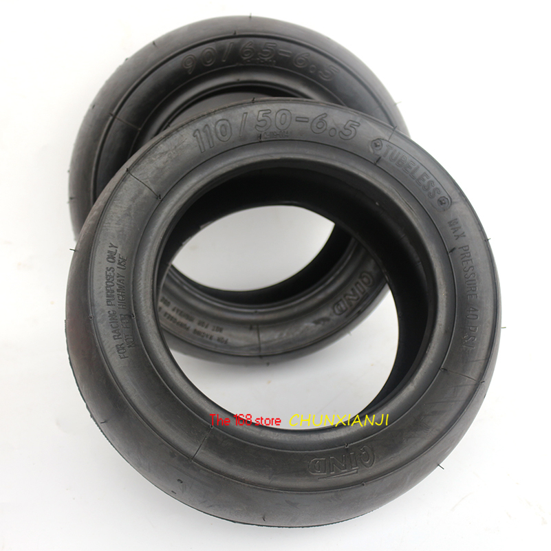 110/50 6.5 Highway Slick Tire Tubeless Vacuum tyres90/65 6.5 For Scooter Mini Pocket Bike Tire 38/47/49/50CC MTA1, MTA2,MTA4