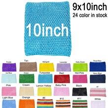 1 шт., вязаные топы-пачки для девочек 9x10 дюймов, вязаные повязки на голову, вязаные топы для платья-пачки от поставщиков