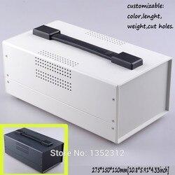 Jeden szt 275*150*110mm żelaza pudełko z uchwytem dla elektroniczny instrument case skrzynka rozdzielcza projekt DIY skrzynka przyłączeniowa