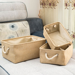 New Folding Storage Basket Foldable Linen Storage Box Bins Fabric Organizer Organize Office Bedroom Closet Toys Laundry Basket(China)