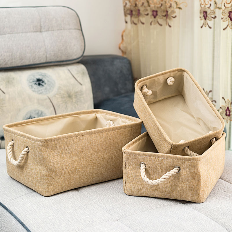 New Folding Storage Basket Foldable Linen Storage Box Bins Fabric Organizer Organize Office Bedroom Closet Toys Laundry Basket