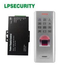 Güç kaynağı ile 5A IP66 Şifre parmak izi erişim kontrolü Metal Kasa Anti Vandal Biyometrik kapı kilidi Erişim Kontrolü tuş takımı