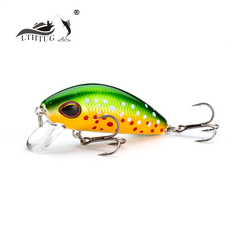 LTHTUG New Mini Stream Minnow 44mm 5gr Slow Sinking Rolling Fishing Lure Artificial Hard Bait Trout Crankbait Fishing Tackle