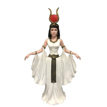 Egypt Style Wing Sun Isis Goddess Egypt Goddess Figures Statue Creative Craftwork Living Room Decoration R1303