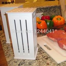 Brochette Express w/ 32 Bamboo Skewers BBQ Grill Shish Kabob Maker Food Slicer kabob skewers spiedini Brochette Barbecue Tools