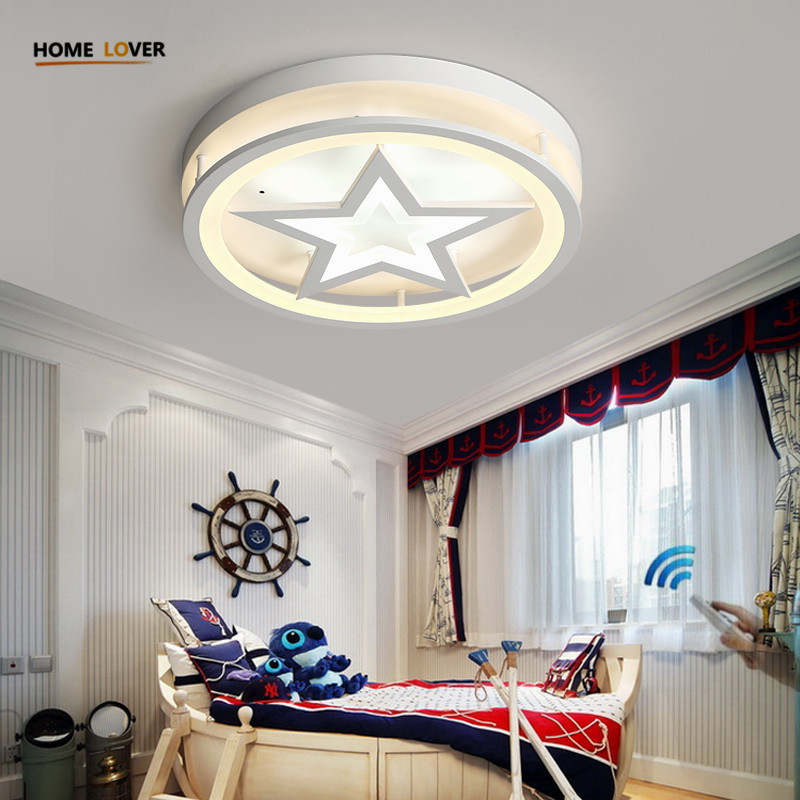 Surface Mounted Modern Led Ceiling Lights For Children Bedroom kids room led Ceiling Lamp Dimming fixtures plafons de teto купить