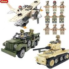Oenux 2017 Guerra Mundial 2 Norte da Campanha Militar Modelo Do Veículo MARK1 Tanque Esquivar WC63 Krupp Artilharia 82 Building Block Tijolo brinquedos