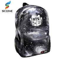 2015 Korean Fashion Women Backpack Printing BTS Backpack School Bags For Teenagers Waterproof Nylon Men S