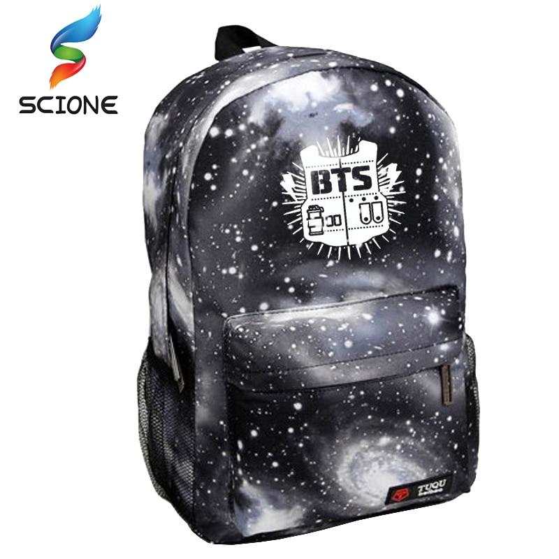 2015 Korean Fashion Women Backpack Printing BTS Backpack School Bags For Teenagers Waterproof Nylon Men's Backpack A861