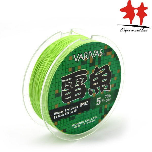 8 Stands Line: VARIVAS Brand Light Green 8 Weaves Max Power PE Braided Fishing Line Japan L 20-110lb Good Quality