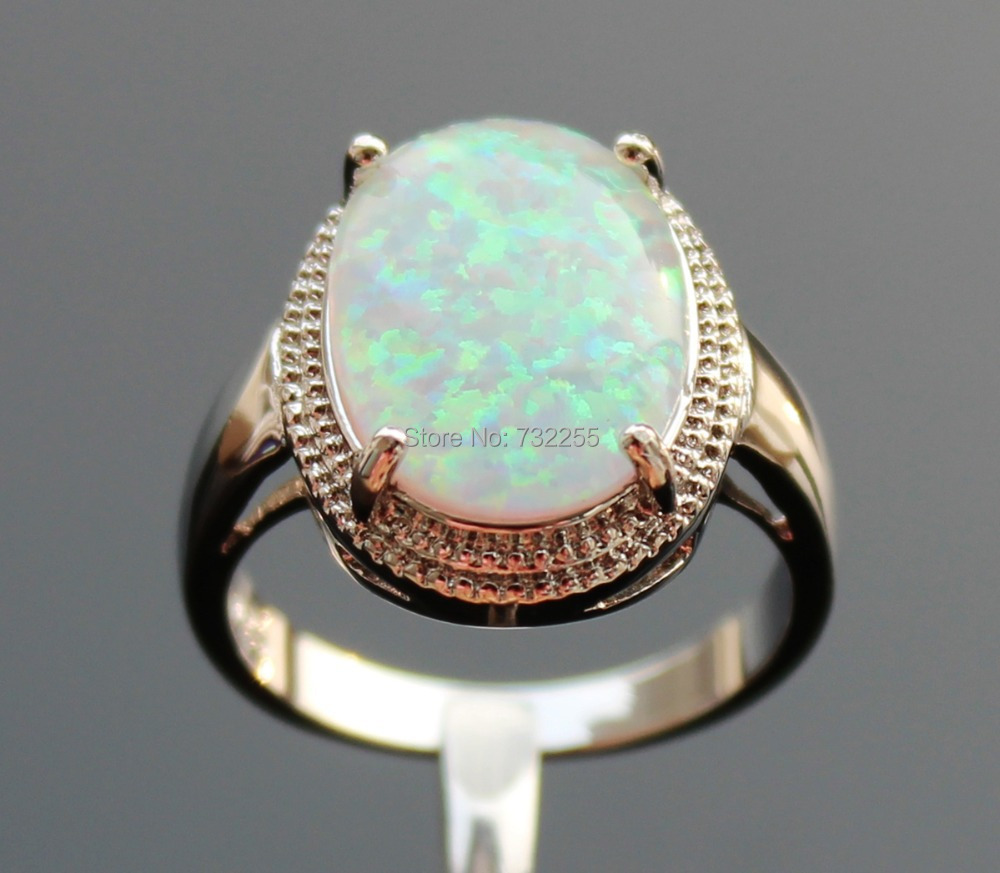 Cool big blue fire opal stone ring for menin Rings from Jewelry