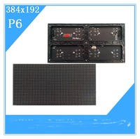 A P6 384*192mm 64*32 pixels Indoor 1/16 Scan 3in1 SMD RGB full color LED module for indoor P6 led display screen