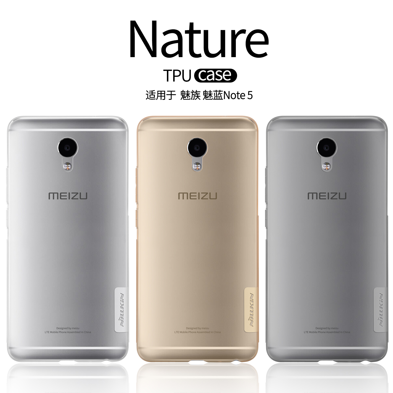 Nillkin Nature Ultra tipis Lembut TPU Kasus Untuk Meizu M5 Catatan 5 5 inch Batal Kembali Kasus Cover untuk Meizu M5 Catatan Slim Silicone kasus