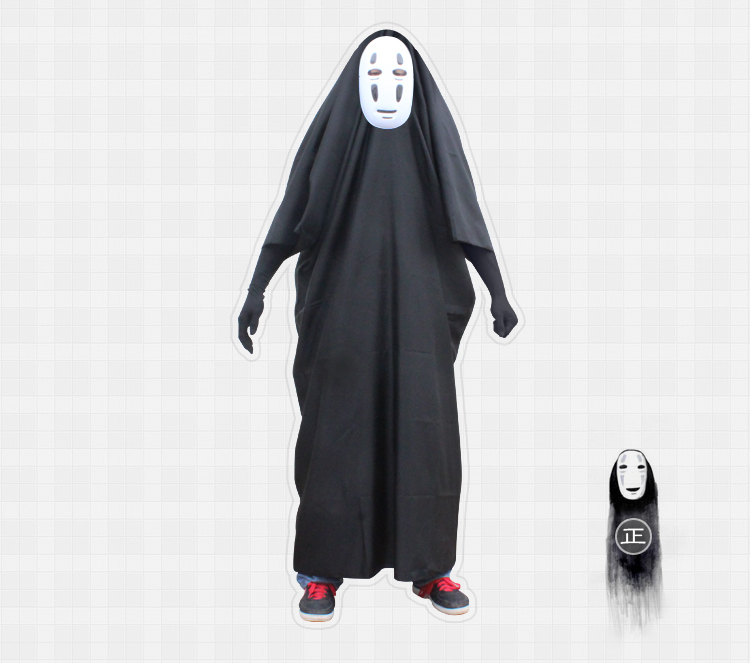 Spirited Away No Face man Cosplay Costumes Mask Hayao Miyazaki Anime Cosplay Set Cloak And Mask Set