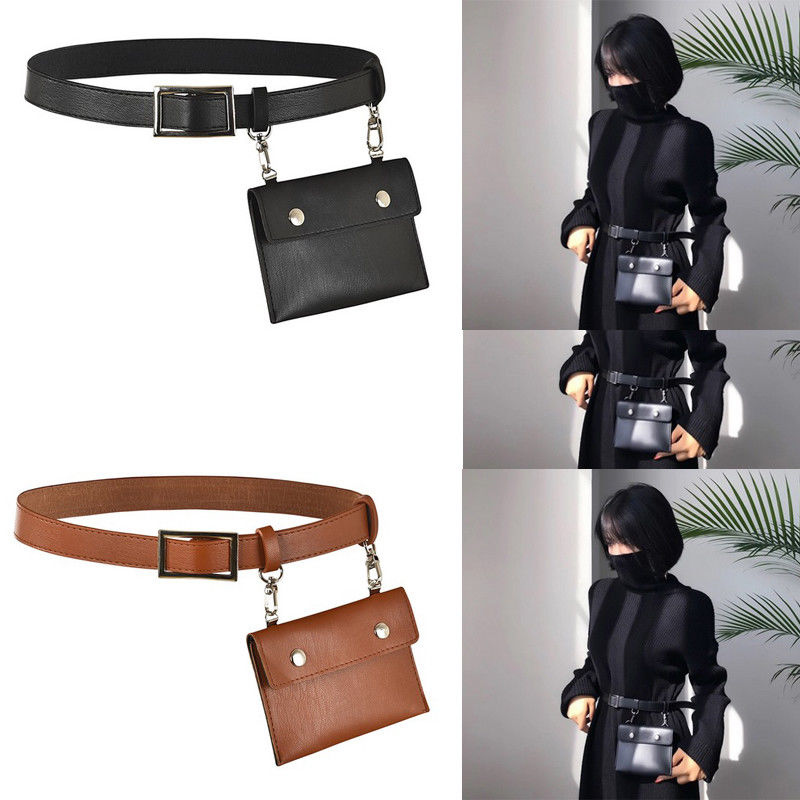 Girls Children's Shoes Men Wasit Bag Pu Leather Zipper Card Holder Multi Pouch For Travel Camping Hiking Cycling Ab@w3 With The Best Service