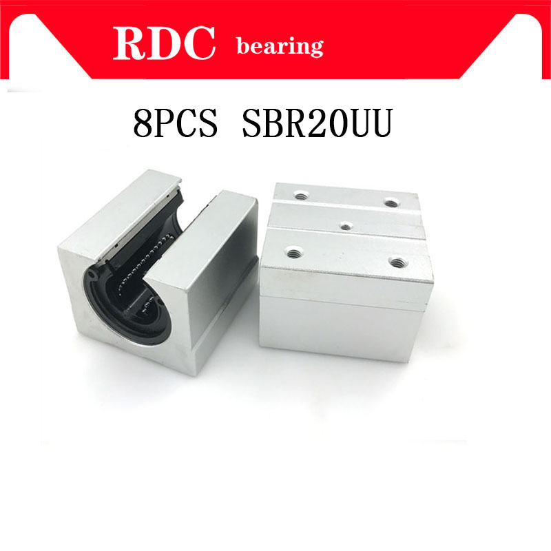 8 pcs SBR20UU SBR20 Linear Bearing 20mm Open Linear Bearing Slide block 20mm CNC parts linear slide for 20mm linear guide SBR20 4pcs lot sbr20uu sbr20 20mm linear ball bearing block cnc router cnc parts and machine aluminum block linear guide rail