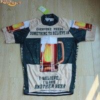 VENTE CHAUDE!! Styles de Bière Hommes Cyclisme Maillots À Manches Courtes D'été Respirant VTT Vélo Vêtements Maillot Ciclismo Ropa Dh vélo Porte