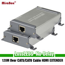 Mirabox New Design HDMI Network Extension Sender&Receiver Over Cat5/Cat5e/Cat6 Rj45 Ethernet Port Transmission Full HD1080p