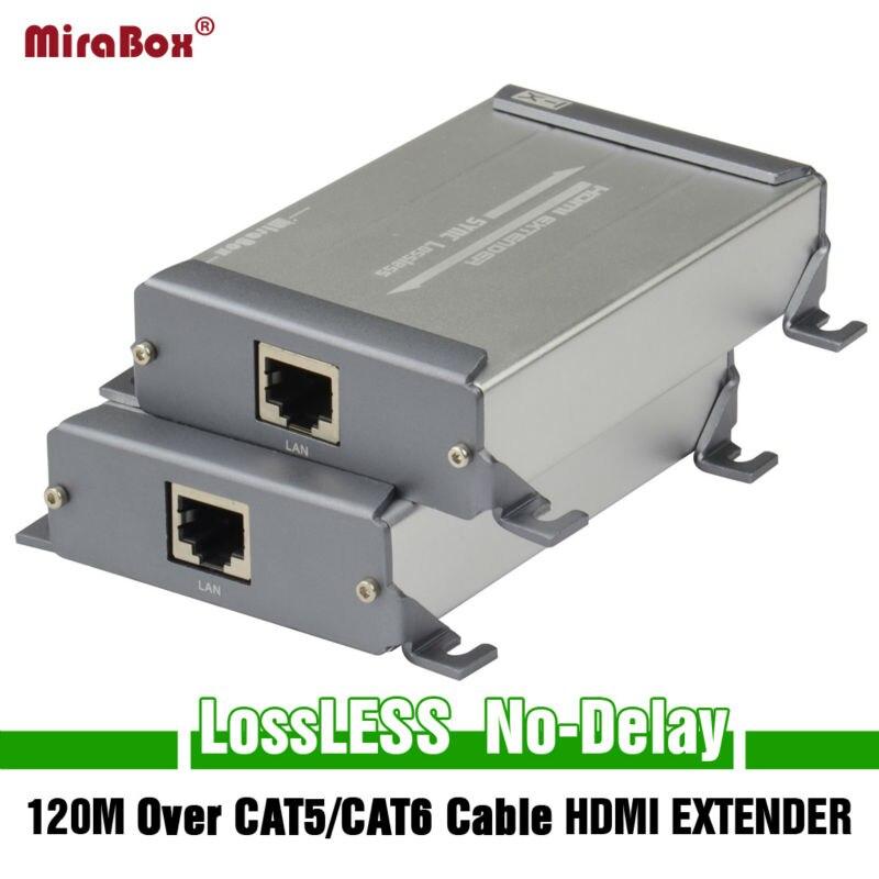 Mirabox New Design HDMI font b Network b font Extension Sender Receiver Over Cat5 Cat5e Cat6