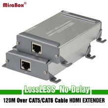 Mirabox Новый Дизайн HDMI расширения сети отправителя и приемник по Cat5/Cat5e/Cat6 Rj45 Ethernet Порты и разъёмы передачи полный HD1080p