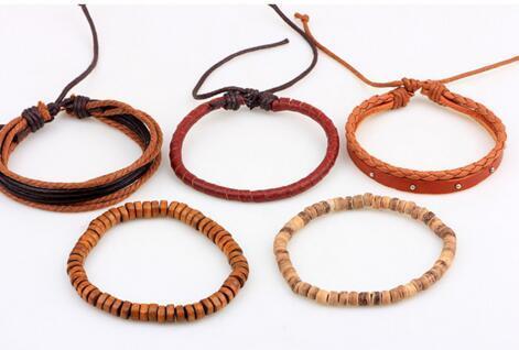 ZOSHI Vintage Tribal Bohemian Wood Beads Bracelet Boho Bracelet Cuff Men Leather Braclet Femme Male Wrist Band Handmade Jewelry 4