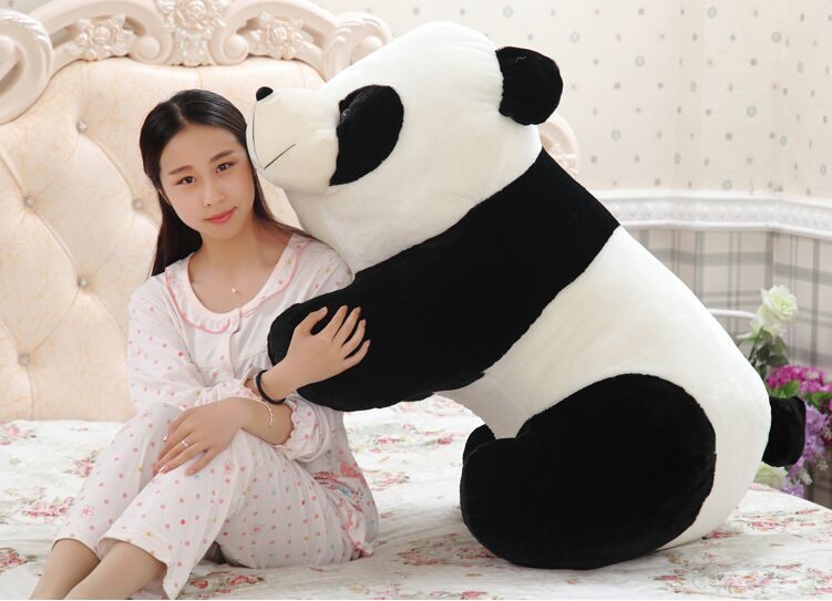 huge 90cm gaint panda plush toy ,soft hugging pillow ,birthday gift Christmas gift h2940 1pc 65cm cartion cute u shape pillow kawaii cat panda soft cushion home decoration kids birthday christmas gift