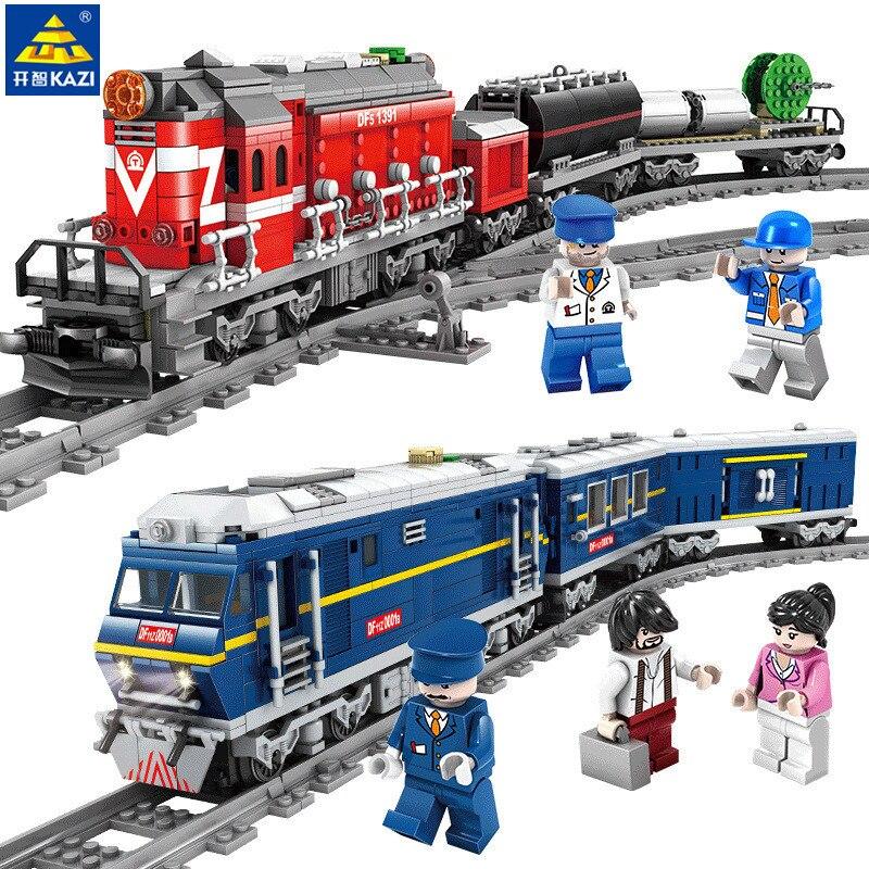 Train de ville à moteur Diesel Train de marchandises avec des rails modèle Compatible LegoINGLs Technic blocs de construction jouets pour enfants