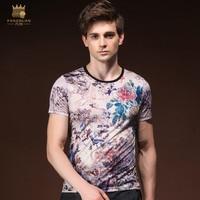 Fanzhuan New Free Shipping 2018 Men S Male Man Fashion Casual Summer Painted Bird Print Short