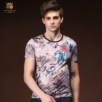 Fanzhuan New Free Shipping 2018 Men S Male Man Fashion Casual Summer Painted Bird Print Short