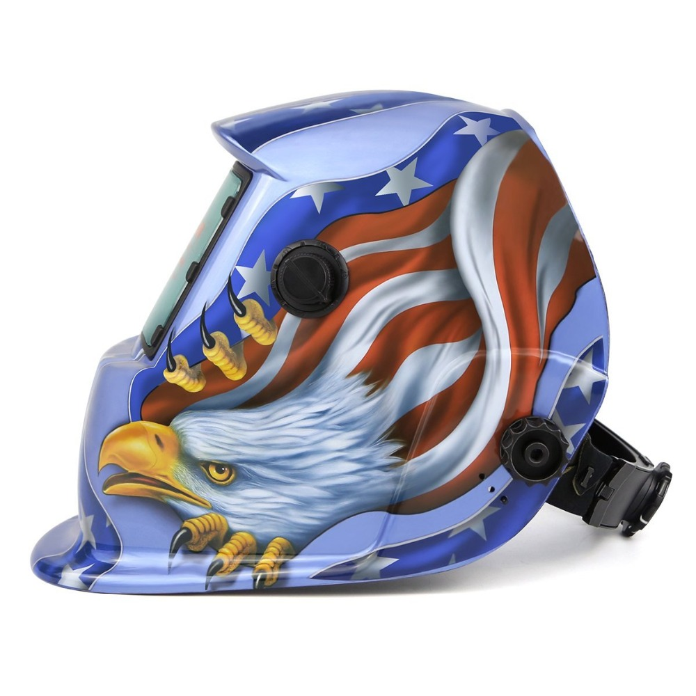 Solar Powered Welding Helmet Auto Darkening Hood With Adjustable Shade Range 4/9-13 For Mig Tig Arc Welder Mask Image Selec't