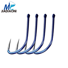 JIADIAONI 8pieces/Lot Non-barb Fishing Hook High Carbon Hook Fishhooks Lure Fishing Tackle