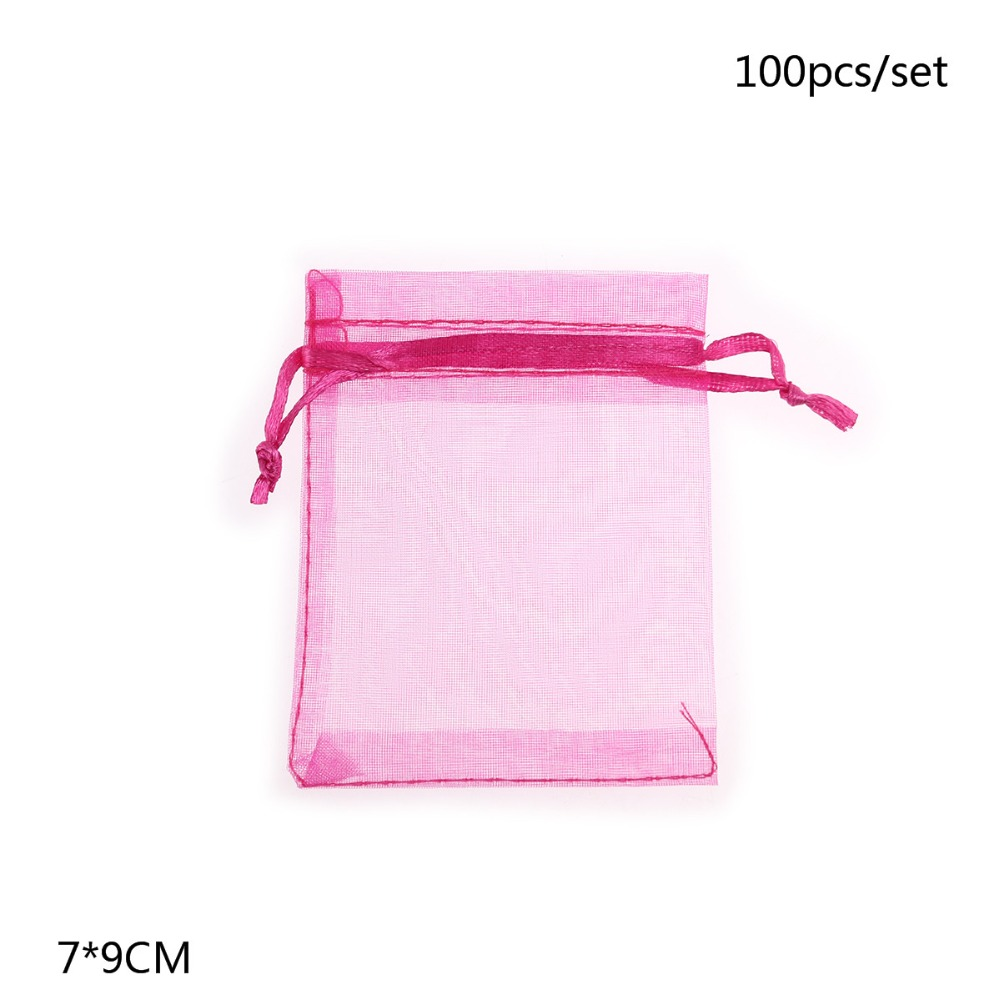 Mareya Trade - 100pcs Organza Drawstring Gift Bags Wedding Favour ...