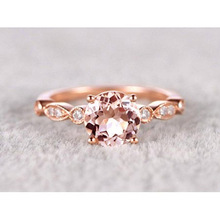 цены Huitan Delicate Wedding Ring with shiny imitate round CZ rose gold Halo Cubic Zirconia  Engagement Bridal Rings for Women Girls