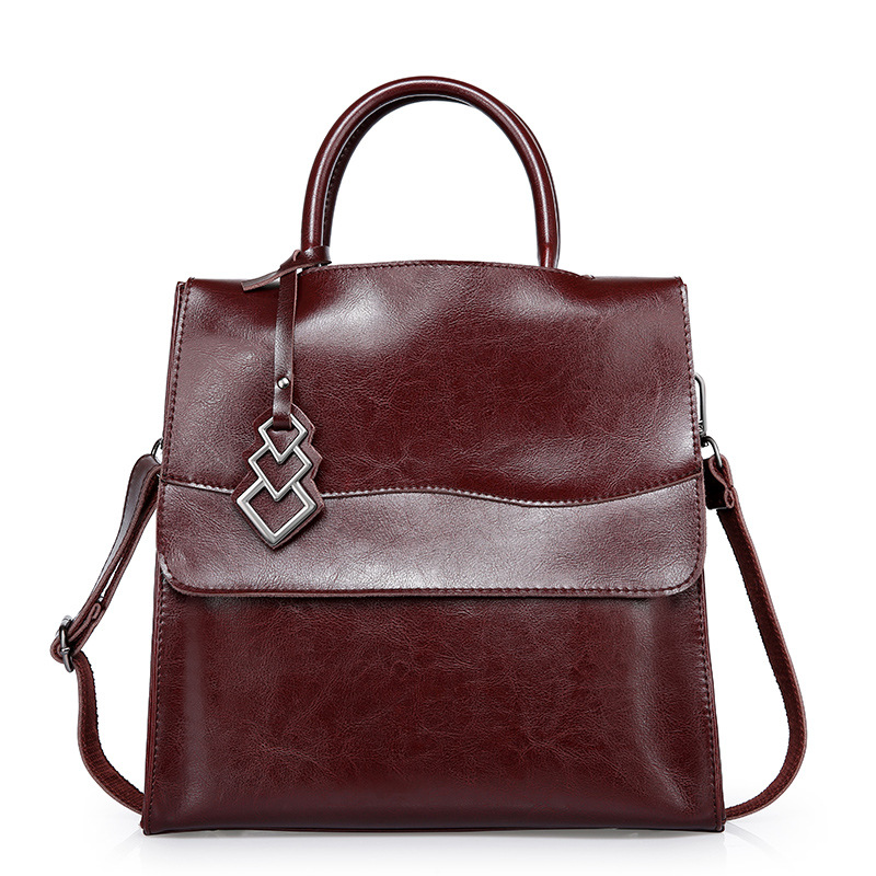 ФОТО 2017 Women Genuine Leather Handbags Fashion Solid High Quality 100% Real Leather Top Handle Shoulder Bag For Female