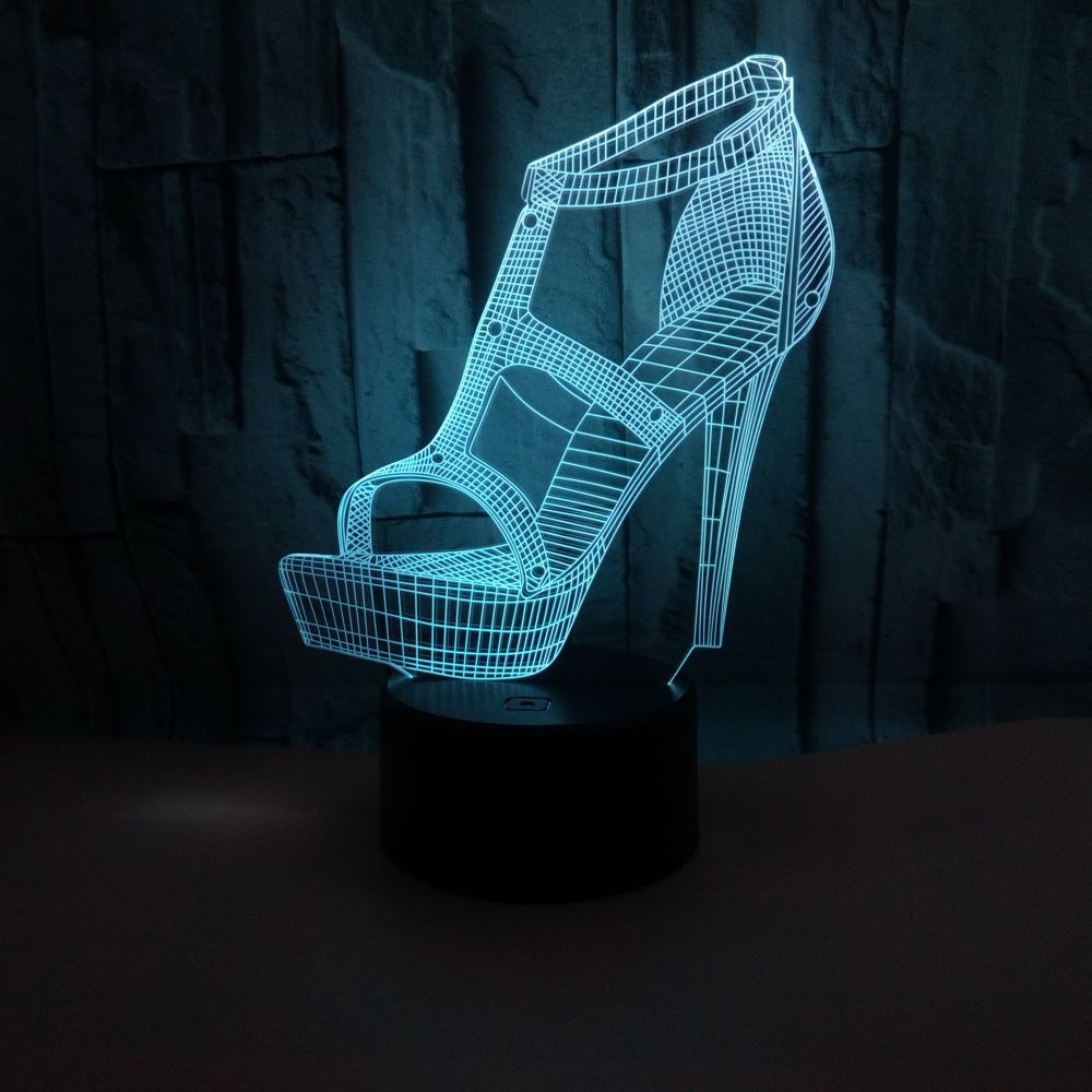 Shoes 3D Table Lamp 3D High Heels Night Lights LED USB 7 Color Changing  Touch Base Sensor Desk Lamp As Holiday Gifts-in LED Night Lights from Lights  ... b4fac0bea683